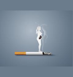 no smoking day world vector image