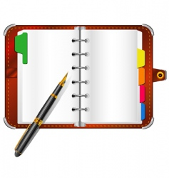 organizer and pen vector image
