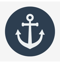 Pirate or sea icon anchor flat design style modern vector