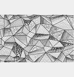 polygonal zentangle seamless pattern vector image vector image