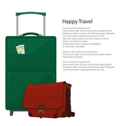 Poster travel and tourism concept vector