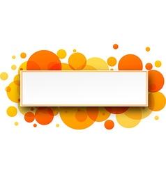 Round orange banner vector