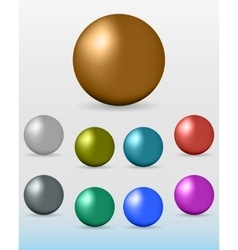 set of colorful glossy spheres vector image