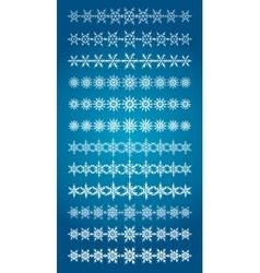 Set of scribble snowflakes borders vector image vector image