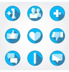 Social net icons set vector