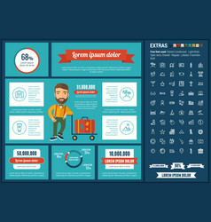 travel flat design infographic template vector image
