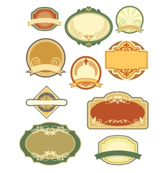 vintage labels set 1 vector image vector image