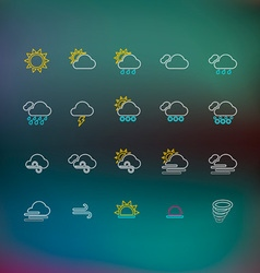 Weather Thin Line Icons vector image