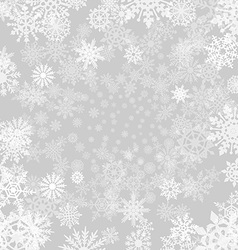 Winter grey background with snowflakes paper vector image