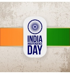 India independence day greeting tag vector