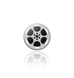 Realistic movie film reel isolated vector image