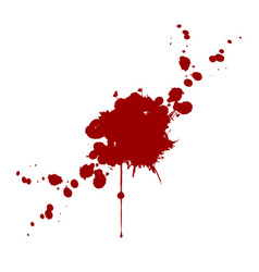 Blood splatter isolated design vector