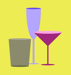 icon in flat design for restaurant cocktail vector image