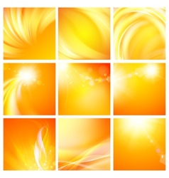 Set of nine abstract backgrounds vector image