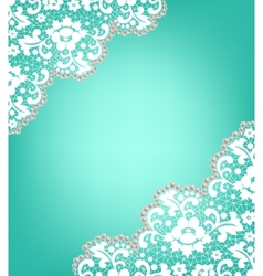 Invitation card with lace vector