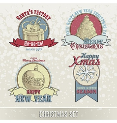 Set of christmas emblems and designs vector