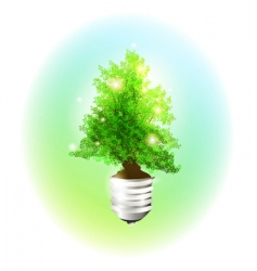 ecology bulb vector image