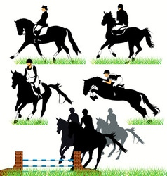 Jockeys set02 vector