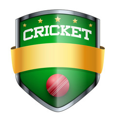 Cricket shield badge vector