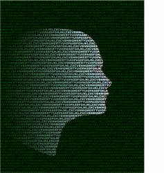 head vector image