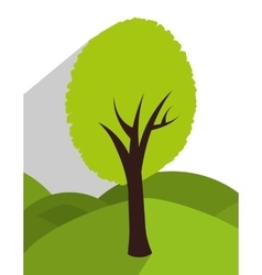 Tree and nature ecology vector