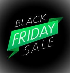 Black friday sale design template label vector