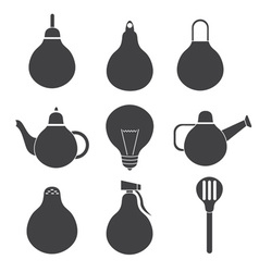 Simple icons of household products in the form of vector