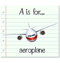 Flashcard letter a is for aeroplane vector
