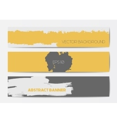 Abstract grunge banner templates vector