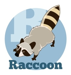 Abc cartoon raccoon2 vector