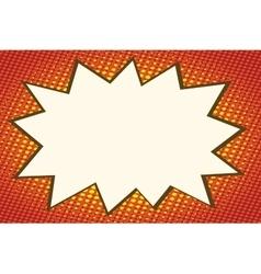 Explosion comics bubble on orange background vector