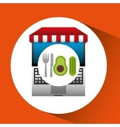 Avocado online shopping app vector