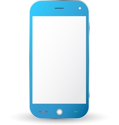 Blue cellphone vector image vector image