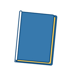 Book closed isolated vector