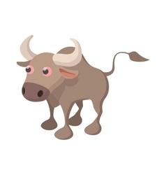 Bull icon cartoon style vector
