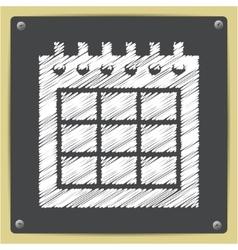 Calendar icon eps10 vector