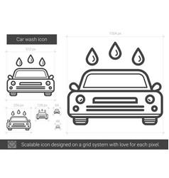 car wash line icon vector image