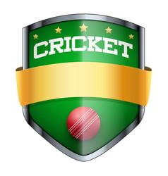 Cricket shield badge vector