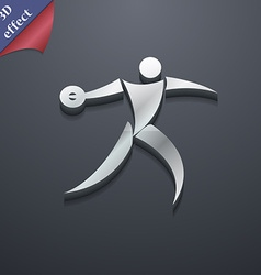 Discus thrower icon symbol 3d style trendy modern vector