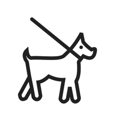 Dog on leash vector