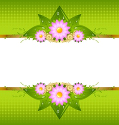 Floral decoration vector image