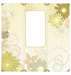 floral triptych vector image