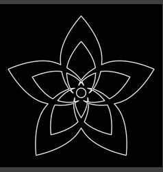 Flower the white path icon vector