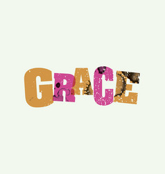 Grace concept stamped word art vector