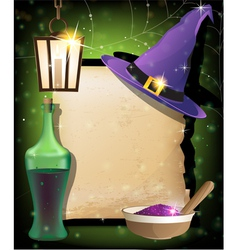 Halloween magic accessories vector image vector image