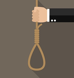 Hand with rope hanging loop vector image