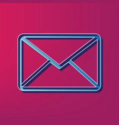 Letter sign blue 3d printed vector