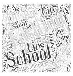 London fashion design schools word cloud concept vector