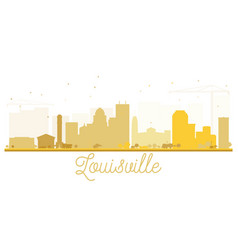 Louisville city skyline golden silhouette vector