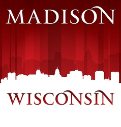 Madison wisconsin city skyline silhouette vector